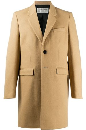Saint Laurent Tailored single-breasted coat - Neutrals
