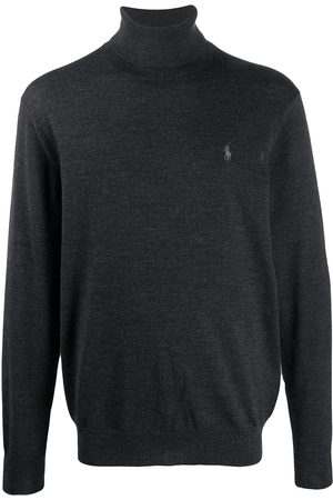 Polo Ralph Lauren Logo-embroidered roll neck sweater - Grey