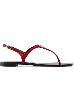 Giuseppe Zanotti Crystal Four Leaf Clover sandals