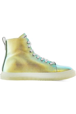 Giuseppe Zanotti Men Sneakers - Blabber shimmering lizard-effect sneakers