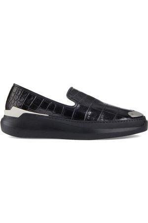 Giuseppe Zanotti Crocodile effect loafers