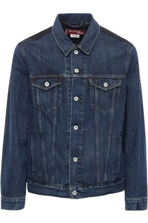 JUNYA WATANABE Men Denim Jackets - Levi's Cotton Denim Jacket W/ Wool Back