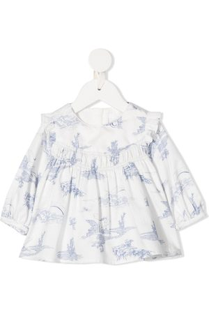 Chloé Embroidered ruffle blouse
