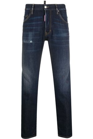 Dsquared2 Logo-patch slim-fit jeans