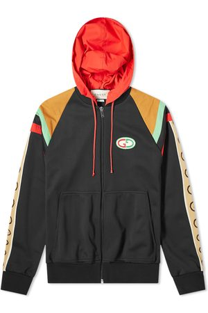 Gucci Men Hoodies - Paneled Tech Jersey Zip Hoody