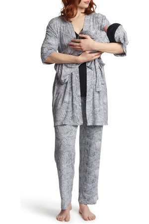 Everly Grey Women's Analise During & After 5-Piece Maternity/nursing Sleep Set