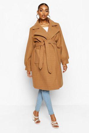 Boohoo Womens Maternity Wrap Pocket Front Coat - - 8