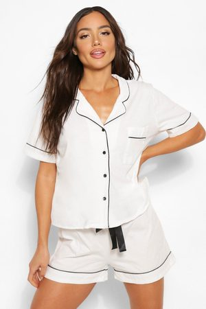 Boohoo Womens Jersey Button Through Pj Pants Set - - 2
