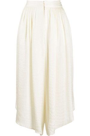 Etro Lurex-stripe silk culottes - Neutrals