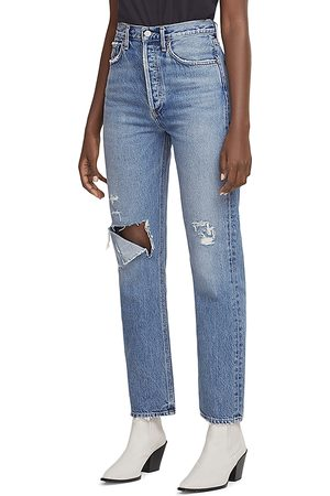 AGOLDE High Rise Straight Leg Jeans in Lineup