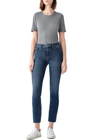 Dl 1961 Mara Mid Rise Ankle Straight Leg Jeans in Chancery