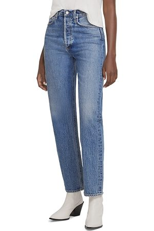 AGOLDE High Rise Straight Leg Jeans in Navigate