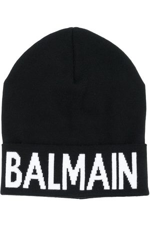 Balmain Intarsia-knit logo beanie