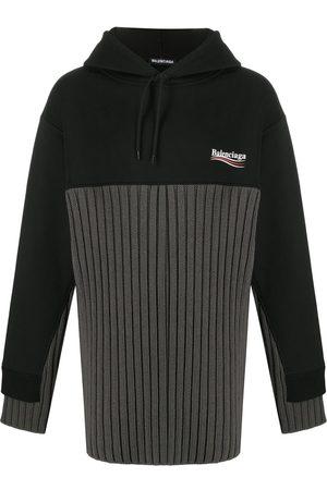 Balenciaga Political Campaign panelled-design hoodie