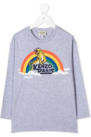 Kenzo Tiger print long-sleeve T-shirt - Grey