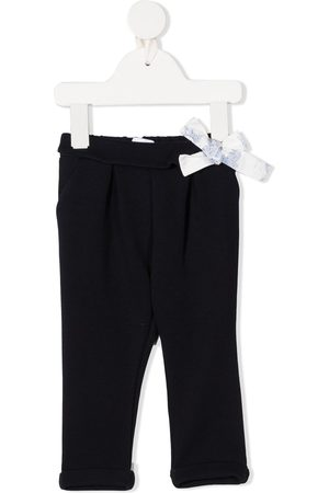 Chloé Bow-detail straight leg trousers