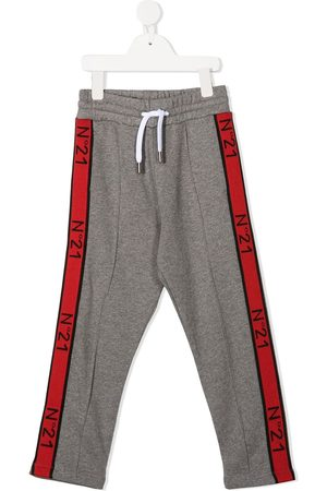 Nº21 Logo band track pants - Grey