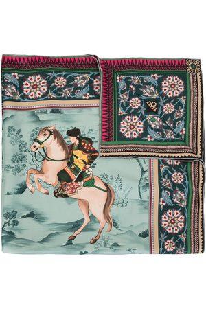 Shanghai Tang Women Scarves - Mongolian horsemen-print silk scarf - Multicolour