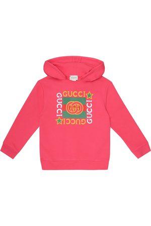Gucci Logo cotton jersey hoodie