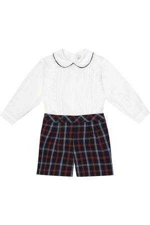 Rachel Riley Baby checked cotton playsuit