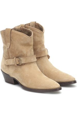 Saint Laurent West Classic 45 suede ankle boots
