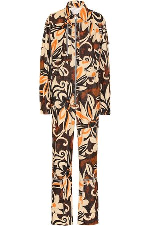 DRIES VAN NOTEN Floral corduroy jumpsuit