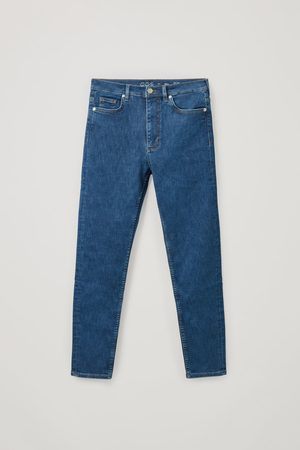 COS ORGANIC COTTON HIGH WAISTED SLIM FIT JEANS