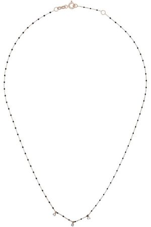 GIGI CLOZEAU 18kt diamond-detail beaded necklace - /