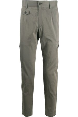 Dolce & Gabbana Grey cotton-mix cargo trousers