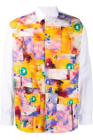 Comme des Garçons Abstract patchwork print shirt