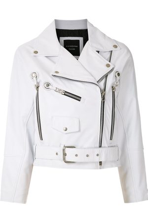 Comme des Garçons Leather cropped jacket