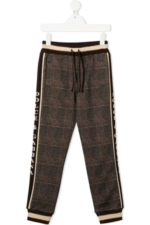 Dolce & Gabbana Checked logo trim track pants