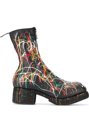 GUIDI Women Ankle Boots - Paint splattered ankle boots