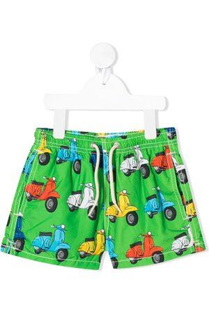 MC2 SAINT BARTH Boys Swim Shorts - Vespa print swim shorts