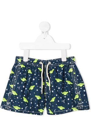 MC2 SAINT BARTH Boys Swim Shorts - UFO print swim shorts