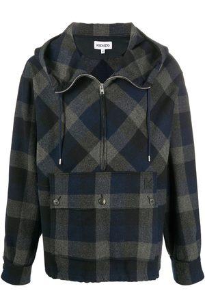 Kenzo Checked zip-up hoodie