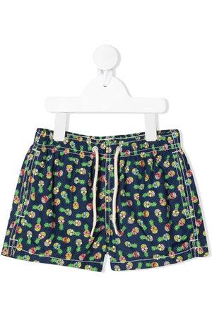 MC2 SAINT BARTH Boys Swim Shorts - Pineapple print swim shorts