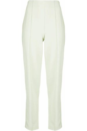 LAPOINTE Matte crepe pintuck trousers