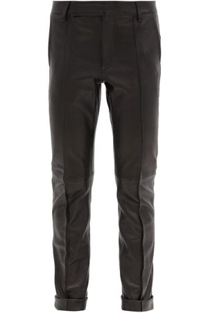 Golden Goose Agathe Leather Straight-leg Trousers - Womens