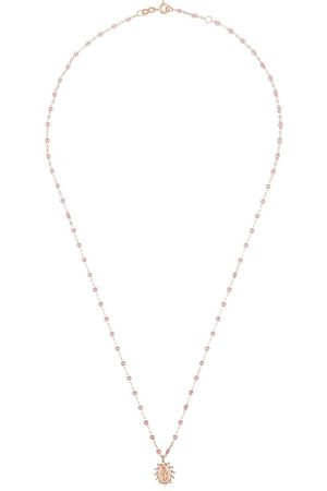 GIGI CLOZEAU 18kt rose gold and diamond Mary charm necklace