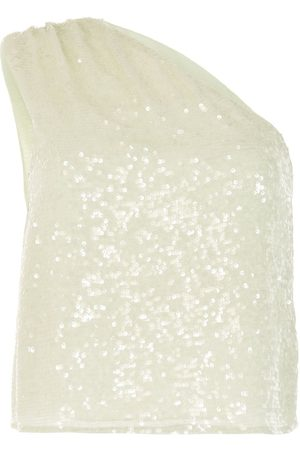LAPOINTE Sequin one-shoulder top