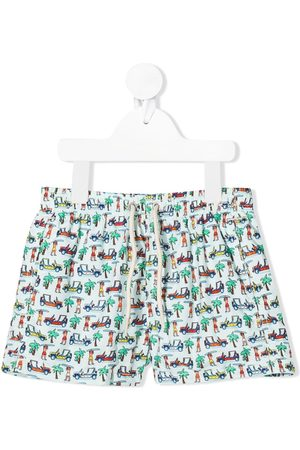 MC2 SAINT BARTH Beach print swim shorts
