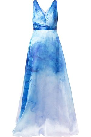 Marchesa Notte Printed flared gown