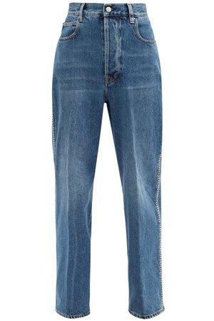 Golden Goose Kim Studded Cotton Straight-leg Jeans - Womens - Denim