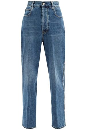 Golden Goose Kim Studded Straight-leg Jeans - Womens - Denim