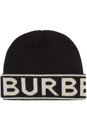 Burberry Logo Cashmere Knit Beanie