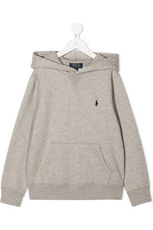 Ralph Lauren Boys Hoodies - Embroidered logo hoodie - Grey