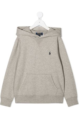 Ralph Lauren Embroidered logo hoodie - Grey