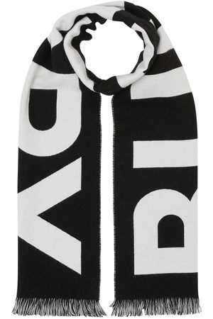 Burberry Women Scarves - Logo Knit Wool Scarf