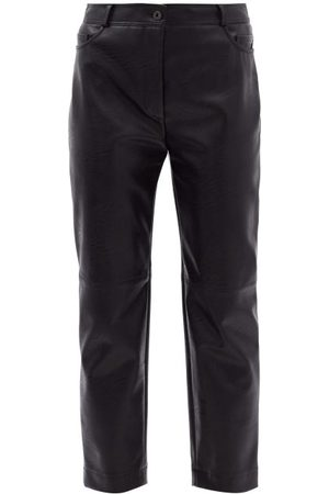 Stella McCartney Hailey Straight-leg Faux-leather Trousers - Womens